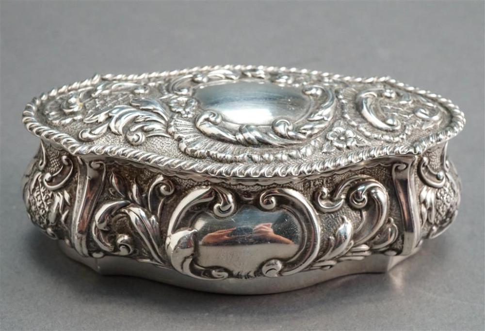 Steinhart & Co Sterling Silver Box, Birmingham, England, C. 1905, 2.5 oz
