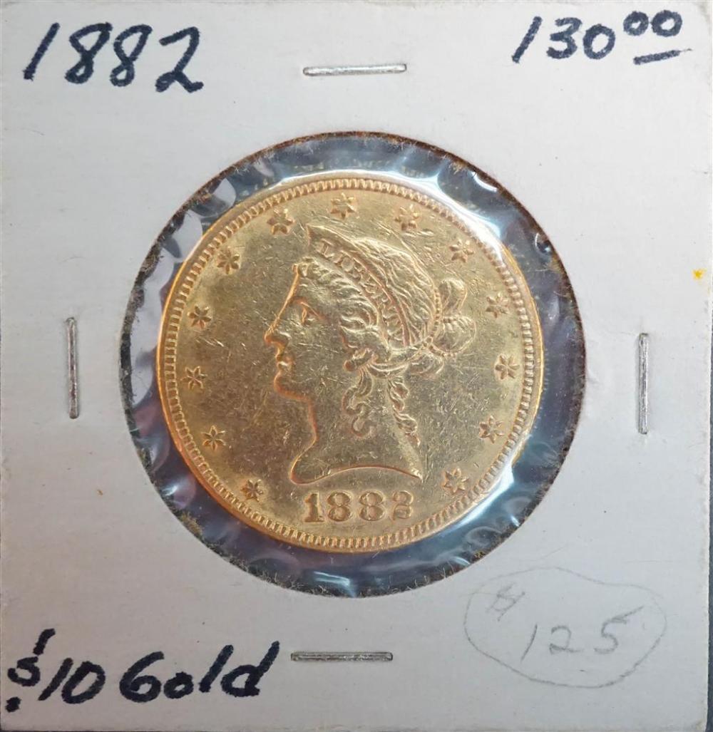 U.S. Liberty Head 1882 10-Dollar Gold Coin
