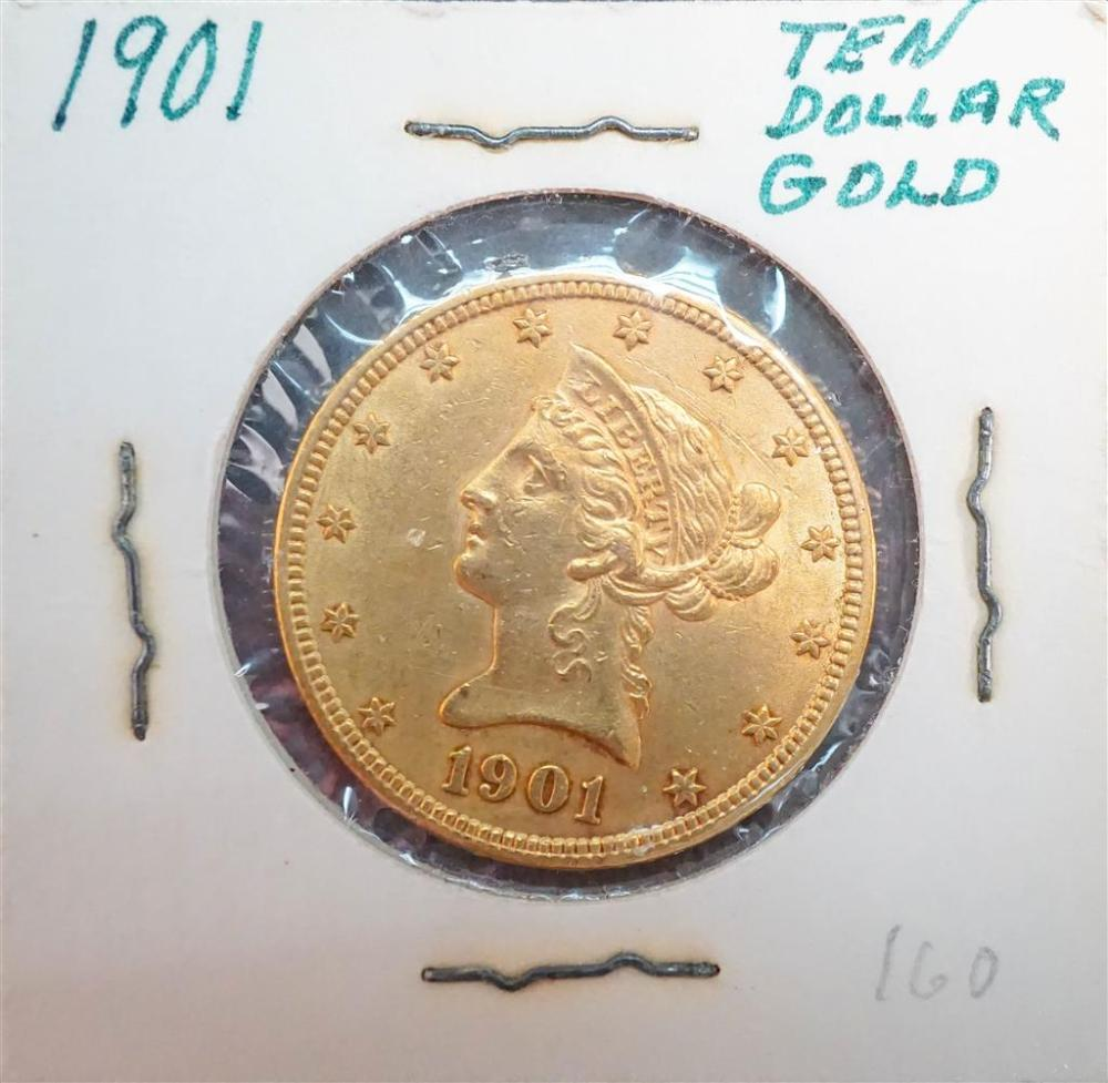 U.S. Liberty Head 1901 10-Dollar Gold Coin