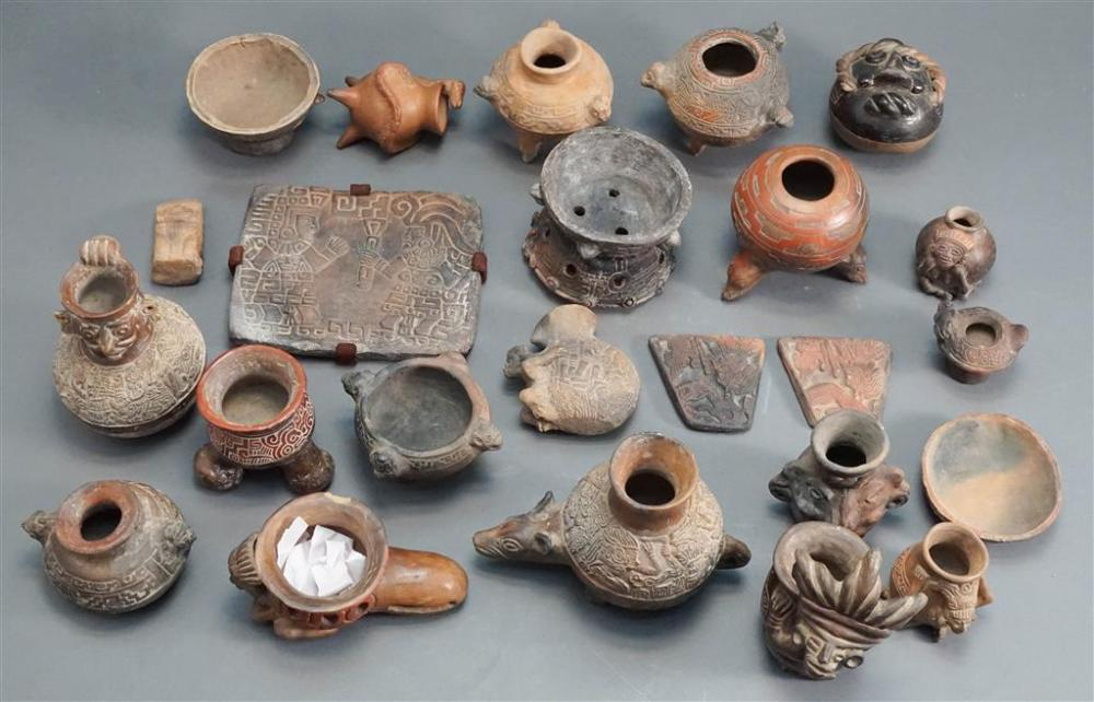Collection of Pre-Columbian Type Pottery Vessels