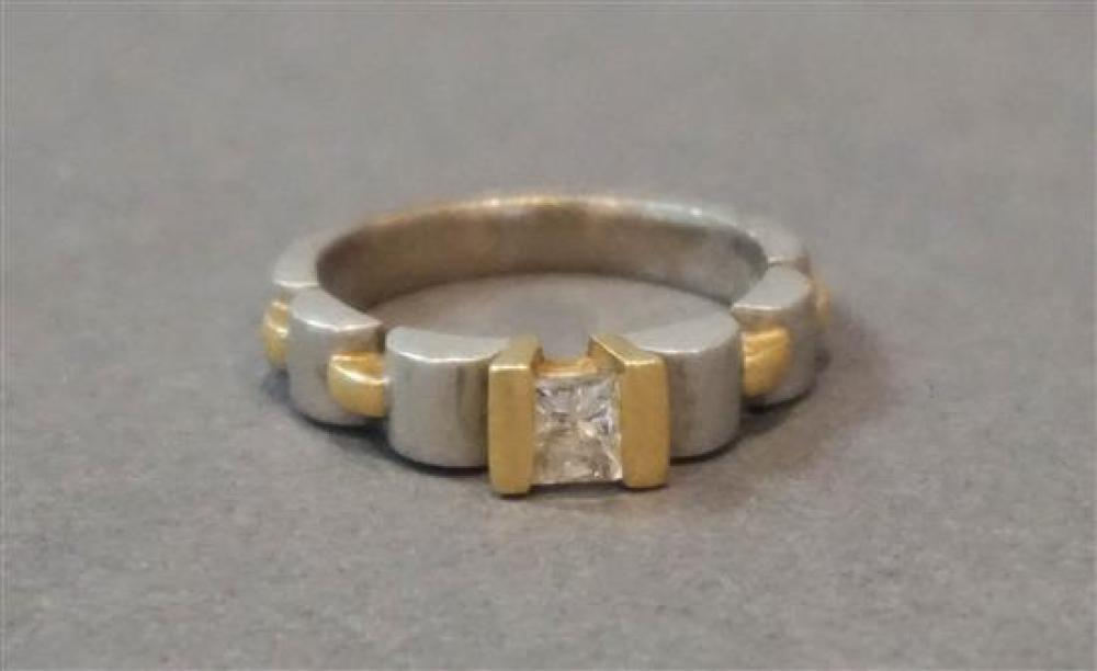 18-Karat White-Gold, Yellow-Gold and Diamond Ring, Approx