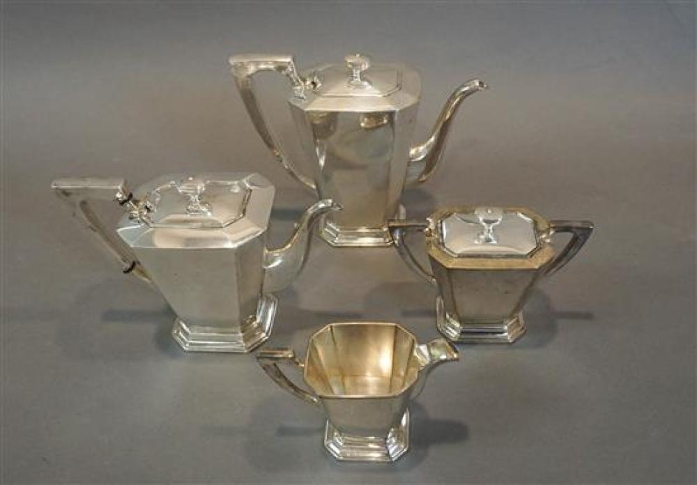 Japanese 950-Silver Four-Piece Coffee and Tea Set, 60 total oz
