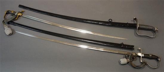 Three German Officer's Swords
