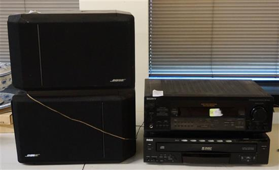 Bose Audio-Video Control Center, a Pair of Bose Speakers and an RCA Five-Disc Player
