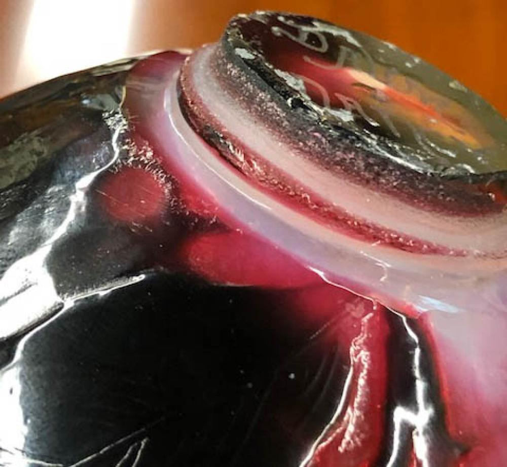 Daum Nancy Martele 'Eglantine' Vase (lacking metal base), Height: 5 in