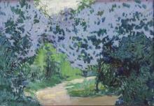Alois Kalvoda (Czech 1875-1934), Country Path, Signed Oil on Board