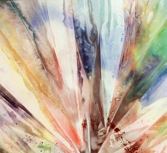 Sam Gilliam (American b. 1933), Fan Fire IV, Signed Acrylic on Canvas, Titled and Dated '70 on Verso