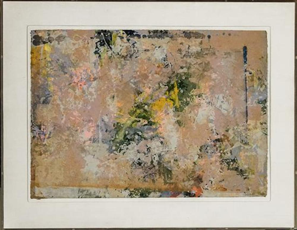 Sam Gilliam (American b. 1933), Untitled Abstract, Mixed Media and Aluminum Dust on Hand Wove Paper, 1973, Sheet size: 18 x 25 inches