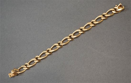 14-Karat Yellow-Gold Curb-Link Bracelet, Length: 7-1/2 in, 27.5 dwt