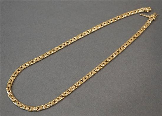 14-Karat Yellow-Gold Oval Link Necklace, Length: 17-3/4 in, 38.2 dwt