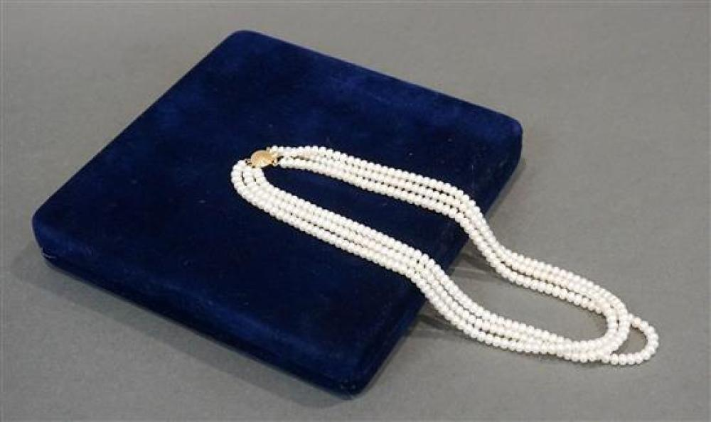 14-Karat Yellow-Gold Freshwater Pearl Necklace, Length: 18-1/2 in