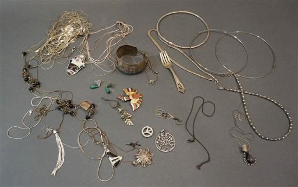 Collection of Silver and Other Jewelry