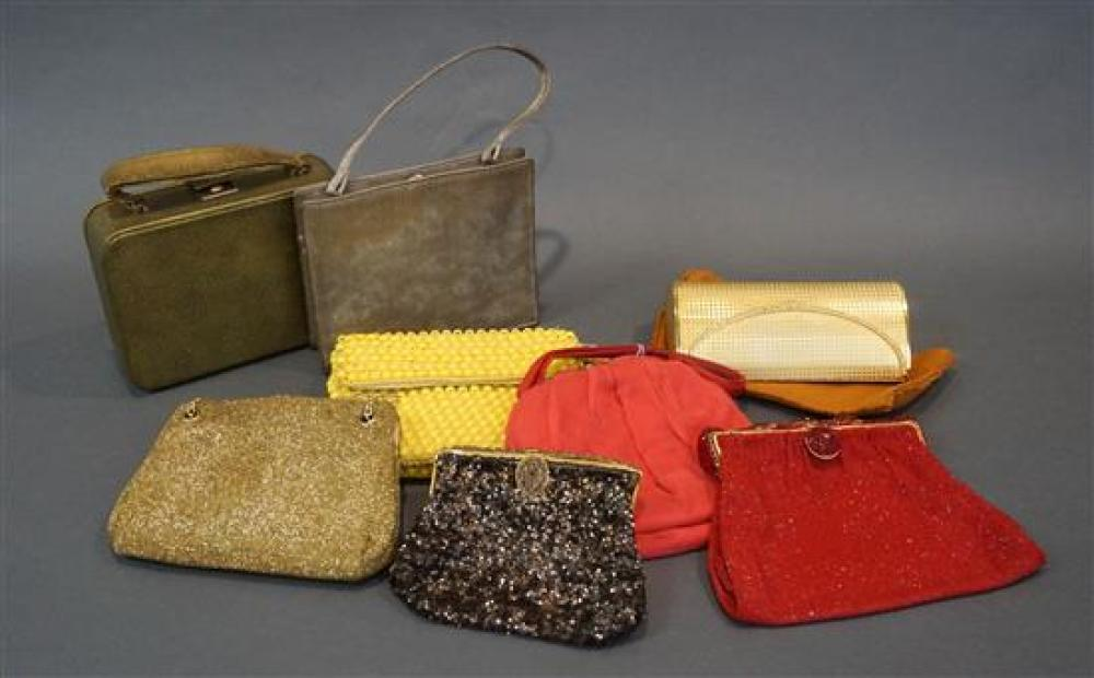 Collection of Eight Vintage Purses and Clutches