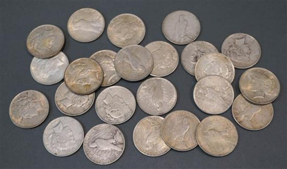 Collection of Twenty-Four U.S. Peace Type Silver Dollars