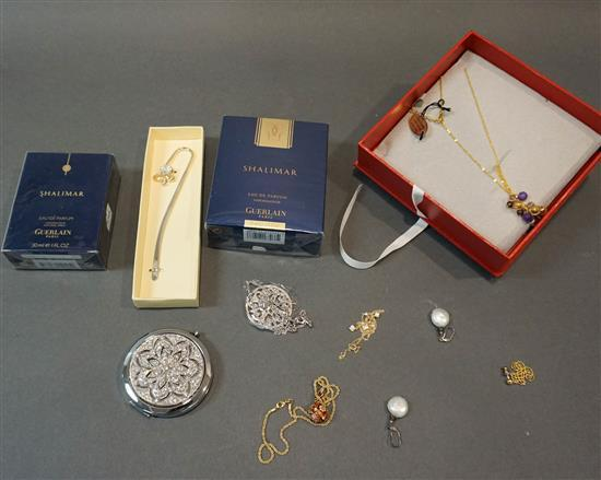 Collection of Costume Jewelry and Two Shalimar Perfumes