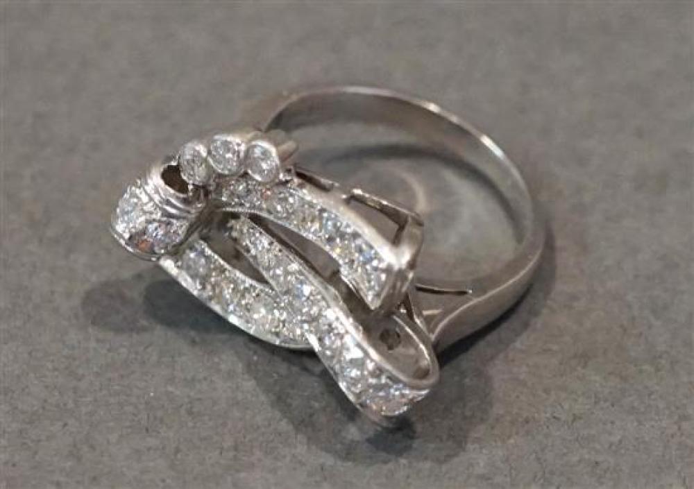 Platinum Diamond Ring, approx 1.50 ct, Size: 7-1/2, 8 dwt