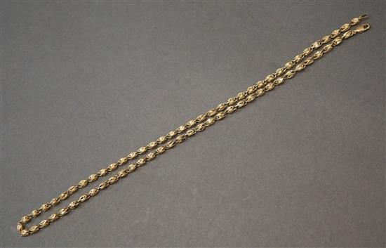 14 Karat Yellow Gold Necklace, L: 21 inches, 10.7 dwt.