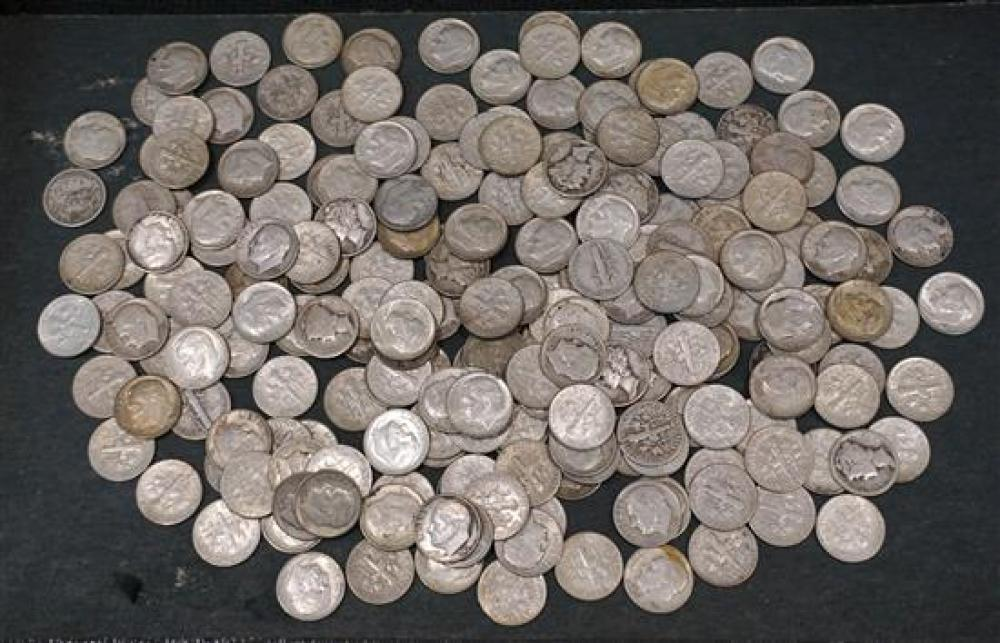 Collection with 115 U.S. Silver Dimes
