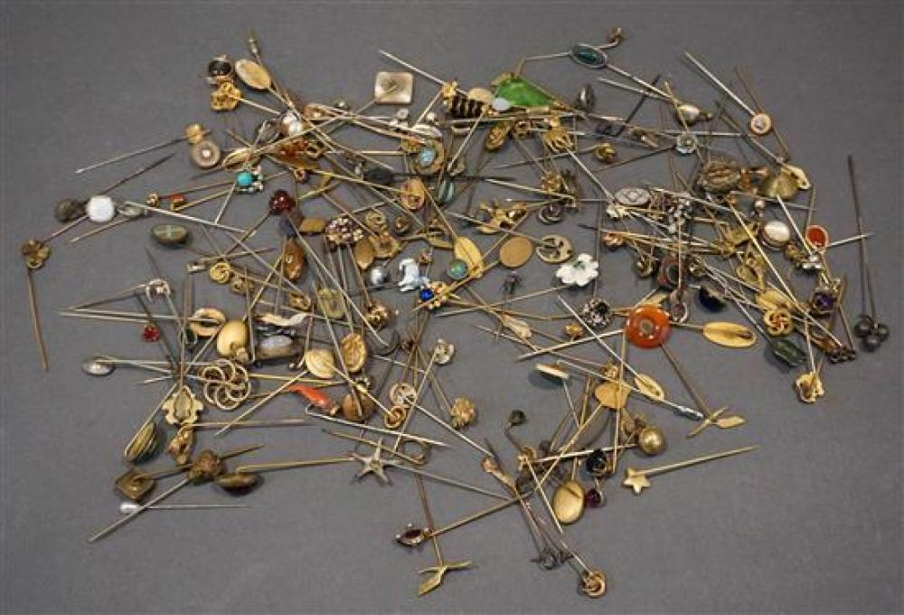 Large Collection of Mostly Gold Filled and Silver Stick Pins