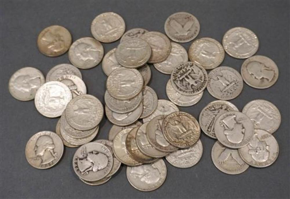 Collection with 42 U.S. Washington Silver Quarters and 6 Standing Liberty Quarters