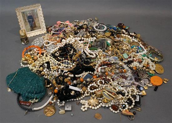 Flat of Costume Jewelry