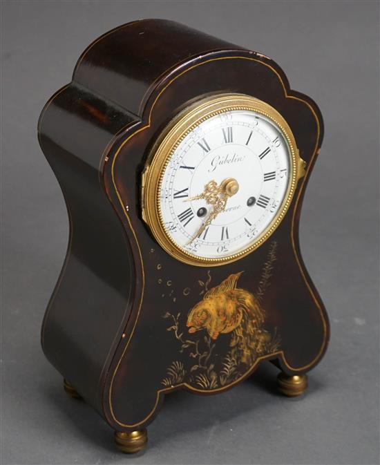 Gubelin, Lucerne Decorated Mantle Clock (movement replaced), Height: 9-1/2 in