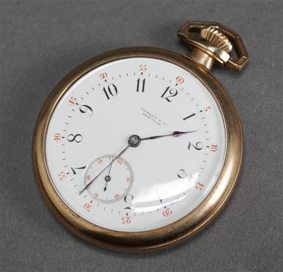 Tiffany & Co. Gold Filled Openface Pocket Watch, Numbered 17616
