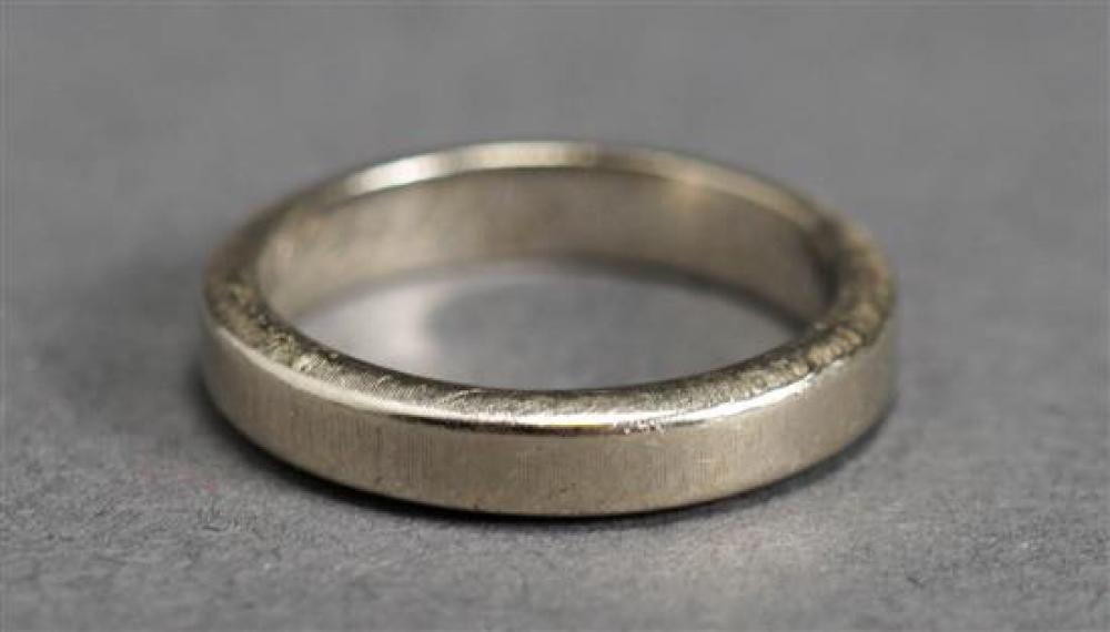 Mario Buccellati 18 Karat White Gold Wedding Band, 3 dwt., Size: 5-1/2