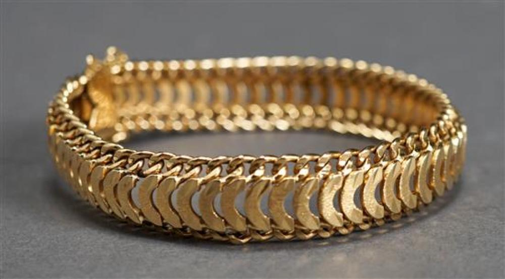 Tested 18 Karat Yellow Gold Bracelet, 24.9 dwt., L: 7 inches