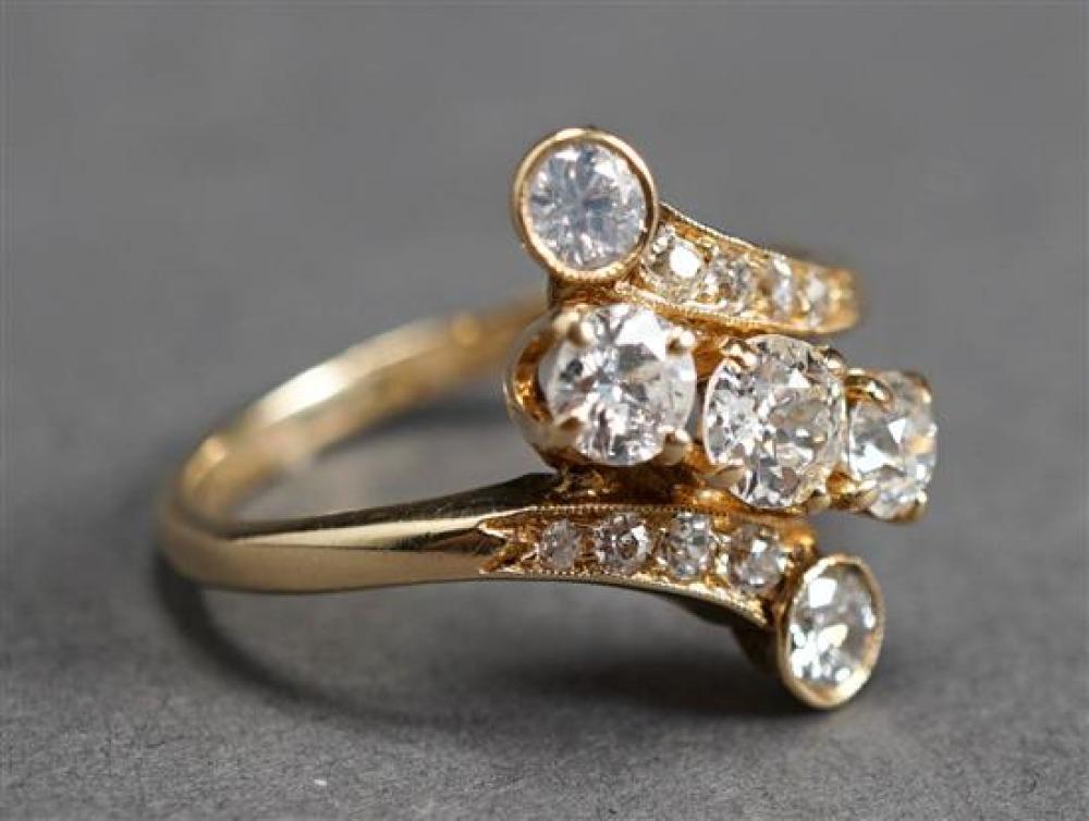 14 Karat Yellow Gold Diamond Ring, approx 1.10 tcw, 2.4 gross dwt, Size: 7