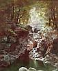Alexander Lawrie (American 1828-1917) Woodland Interior, Adirondacks Signed A. Lawrie l.l.; also
