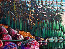 James Edward Hergel Sunlit Shore, Algonquin Park, 1988