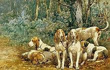Charles de Penne Hounds Resting