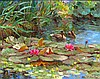 Jose Trinidad Ducks in Lily Pond, Jose Trinidad, Click for value