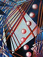 Waldemar Smolarek Abstract with Seven Red Orbs