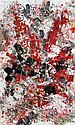 Waldemar Smolarek Abstract with Bursts of Red & Black