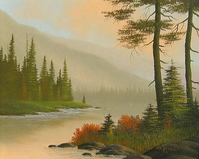 Roger Arndt, Autumn River Landscape