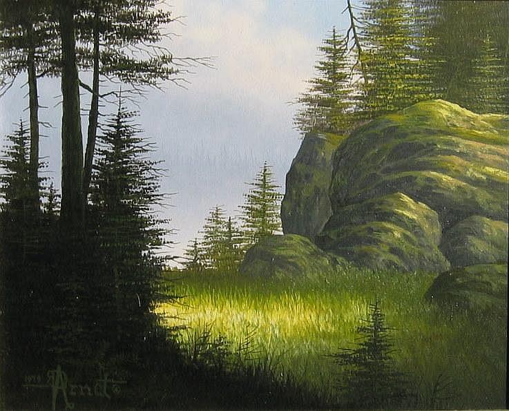 Roger Arndt, Sunlit Glade landscape