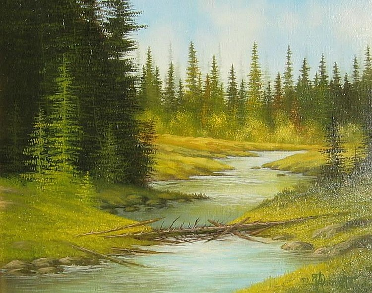 Roger Arndt, Serene River Landscape