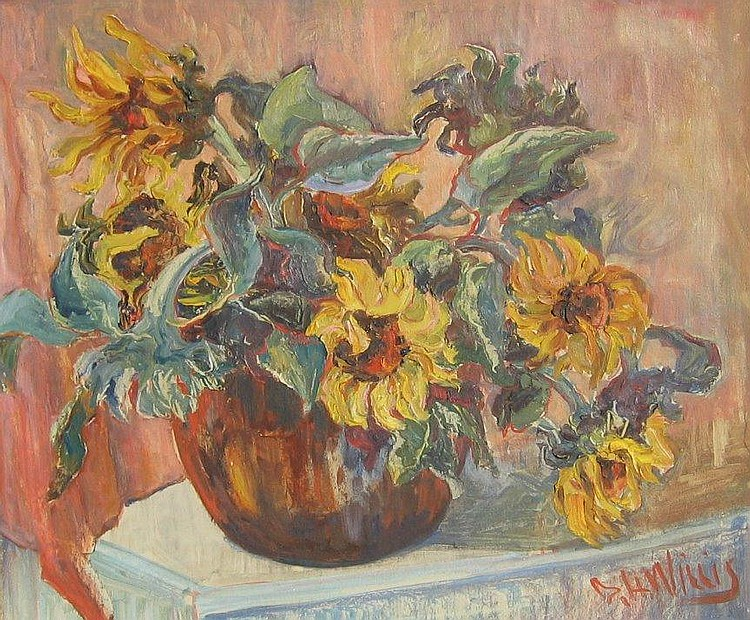 Willis, Canadian, oil, sunflowers
