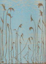 Eva Roemer - Reeds at Lake's Edge; Church