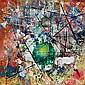 Waldemar Smolarek Abstract with Green Orb