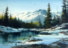 Marke Simmons - Mountain Lake, Winter