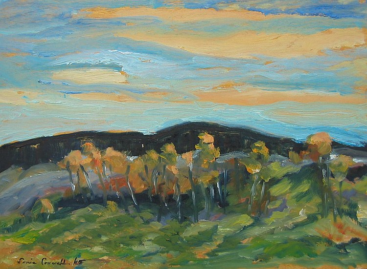 Cornwall, Canadian, oil, evening light