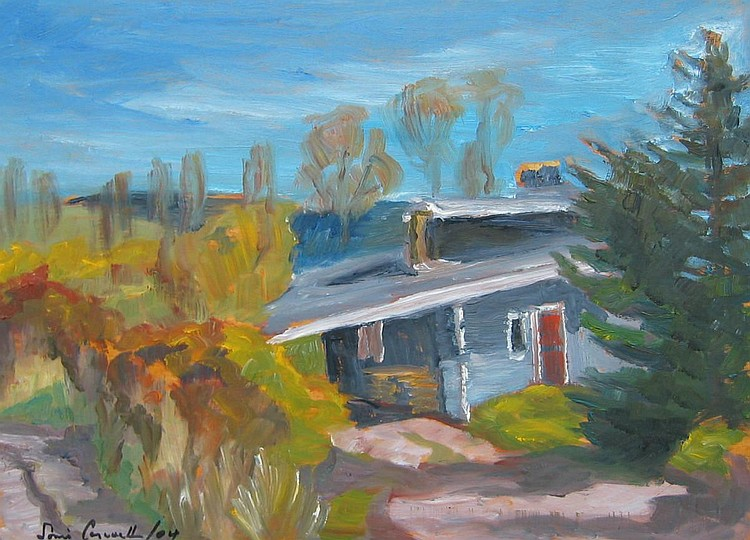 Cornwall, Canadian, oil, house in landscape