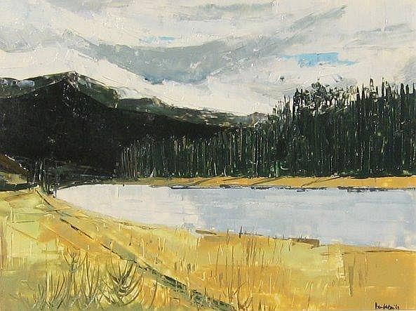 Hambleton, Canadian, oil of Sicamous River, B.C.