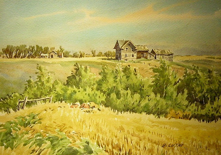 Ernest Luthi Buildings in a Farm Landscape
