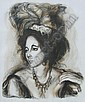 Schoneber, American litho portrait of woman, Sheldon C.  Schoneberg , Click for value