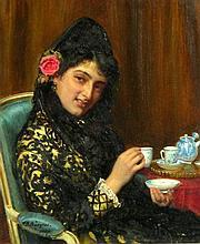 John Burgess A Beauty at Tea