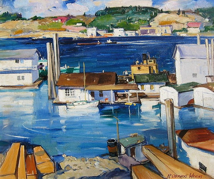 Redmond S. Wright, American, Oil, Fishing Village